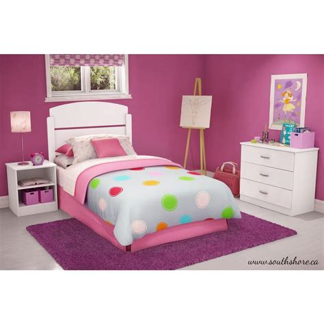 white bedroom set twin south shore libra 3 piece pure white twin kids bedroom set