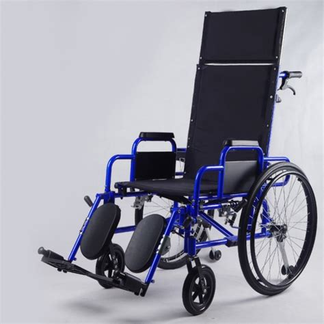 reclining back wheelchair buy steel semi high back recliner wheelchair with headrest