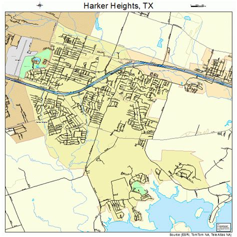 killeen texas map harker heights texas map 4832312