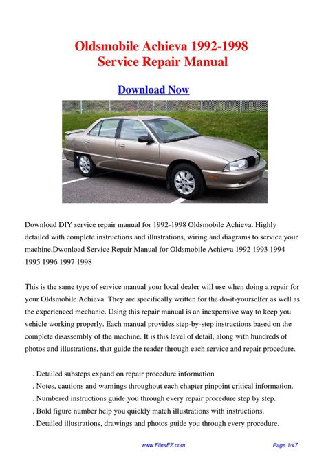 service manual free online car repair manuals download 1992 oldsmobile 88 engine control