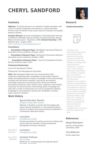 special education resume exles special needs resume best resume collection