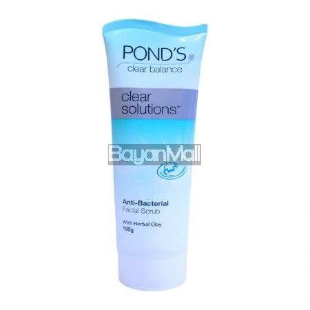 Ponds Whitening Exfoliating Scrub pond s clear solutions anti bacterial scrub 100g