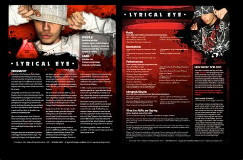 dj press kit template free media kit exles templates search pr