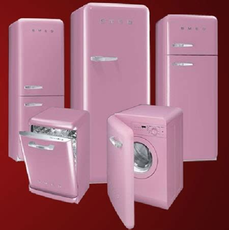pink appliances kitchen coolest latest gadgets smeg uk goes retro to spread