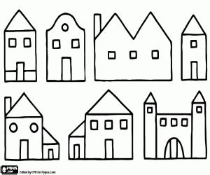 house coloring pages games houses coloring pages printable games