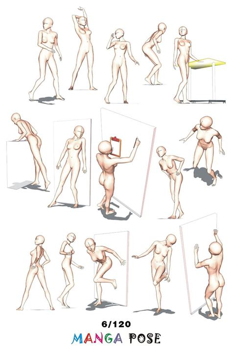 Anime Poses by Tutorial Drawing Pose Big Posebook For Anime