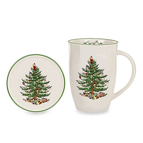 buy spode 174 christmas tree 12 oz mug and coaster set from