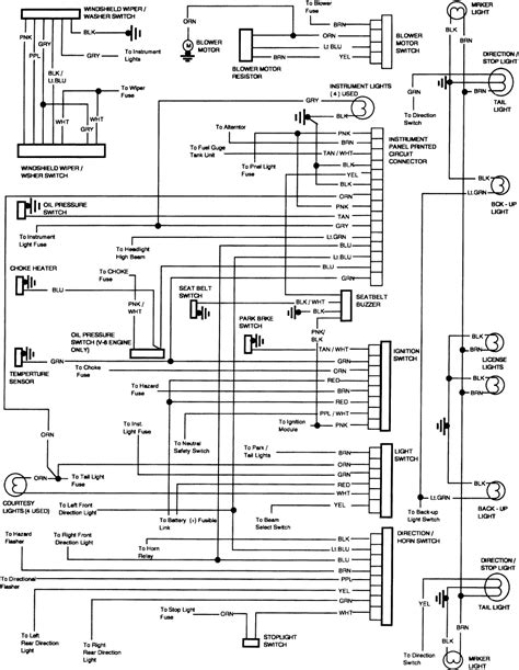 chevrolet 1 2 ton wiring diagram for 1985 chevy truck tilt