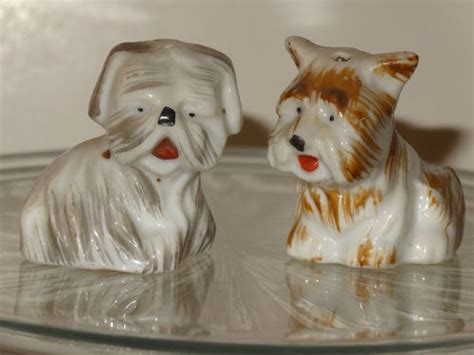shih tzu salt and pepper 17 best images about puppy salt pepper shakers on poodles mustache