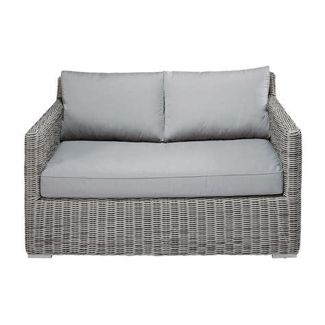Resin Wicker Sofa by 2 Seater Garden Sofa In Grey Resin Wicker Cape Town
