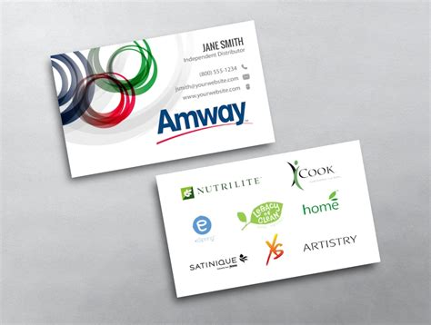 amway business card template amway business card 02