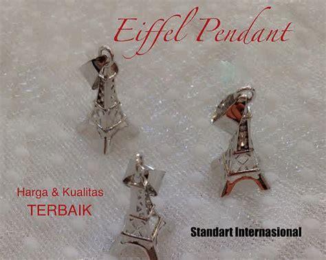 Kalung Eiffel 2 Warna display stock perhiasan kalung