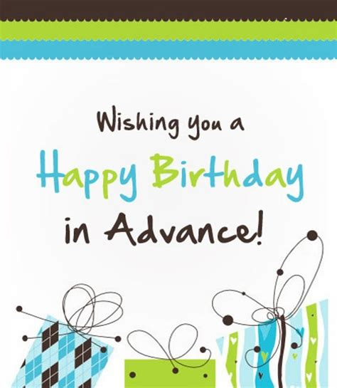 Advance Happy Birthday Wishes For Husband Advance Wishes Wishes Greetings Pictures Wish Guy