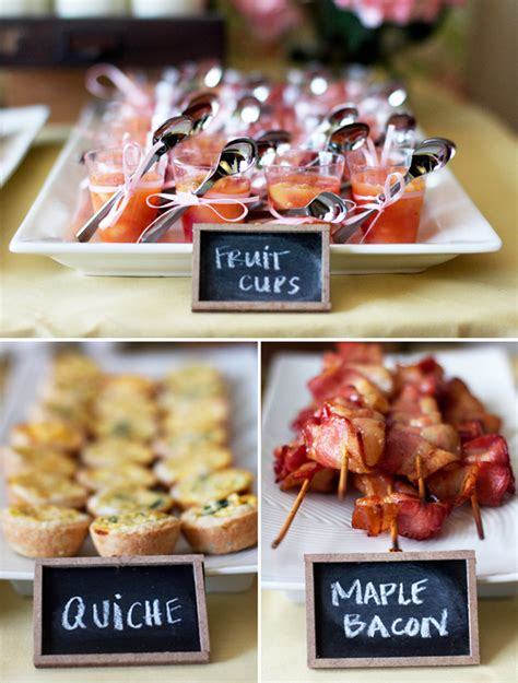creative bridal shower menu bridal shower brunch ideas keeping it simple wedding
