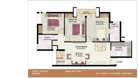 3bhk plan jaypee greens