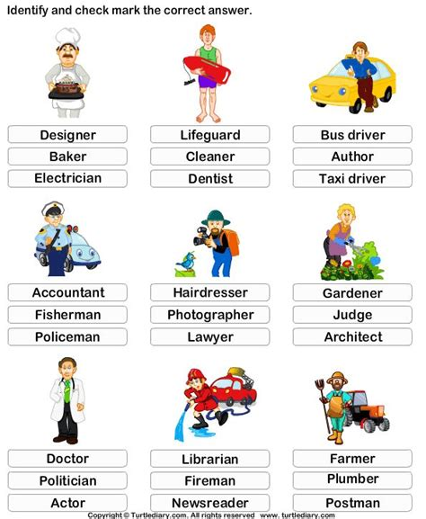 home and careers lesson plans kindergarten vocabulary worksheet identify the job earlyeducation languagearts vocabulary