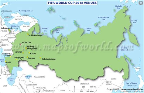 world cup 2018 host cities map fifa world cup 2018 venues map of russia