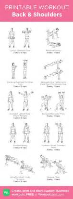Shoulder Workout At Home by Back Shoulders Custom Printable Workout By