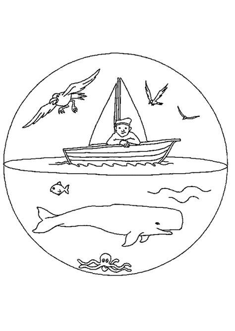 la baleine et lescargote coloriage mandala baleine bateau sur hugolescargot com hugolescargot com