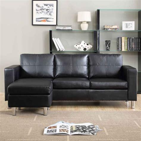 divano soggiorno divano angolare roma con pouf 205 cm ecopelle bianco nero