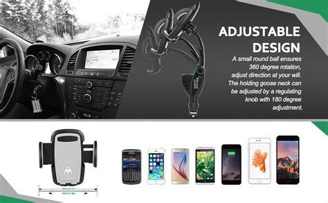 amazoncom amoner    universal  degree goose neck car mount charger holder  dual