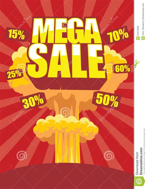 a for all time sale mega sale poster stock photo image 32474680