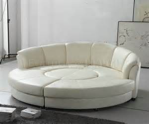 circle sofa 2276 circle sectional sofa in white bonded leather by vig