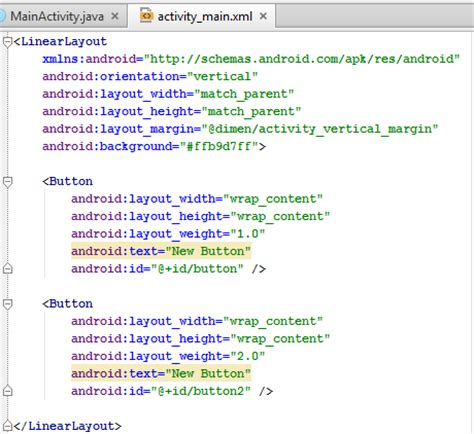 android change layout weight in code android ui layouts and controls codeproject