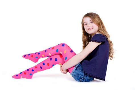 Patterned Childrens Tights | country kids patterned polka dot tights
