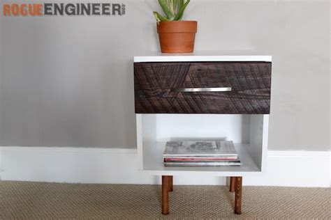 mid century modern side table free plans rogue engineer