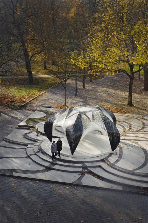 Pavillon Uni Stuttgart by Des Pavillons En Fibre De Verre Par Icd Itke Paperblog