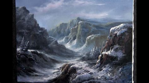 paint  kevin hill tall snowy mountains youtube