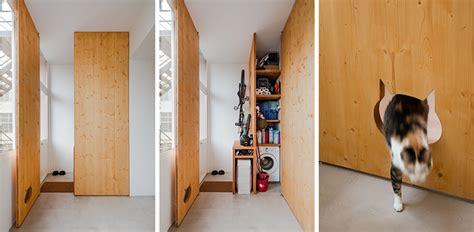 storage closet   cat shaped opening   cat