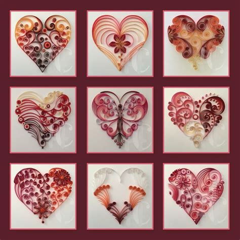heart quilling pattern 396 best quilling hearts images on pinterest paper