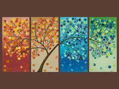 season tree painting on tree paintings seasons and water colors of trees in