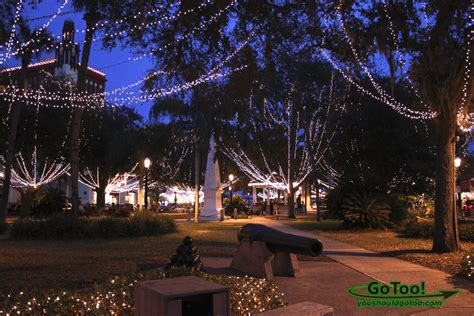 St Augustine Fl Nights Of Lights Celebrates The Christmas St Augustine Florida Lights