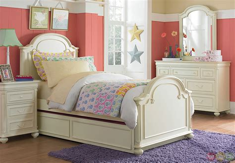youth beds charlotte antique white arched panel twin youth bed