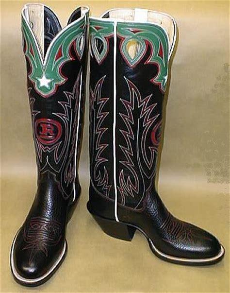 Buckaroo Biker Boots Vintage Handmade - tex robin custom bootmaker inlay boot gallery