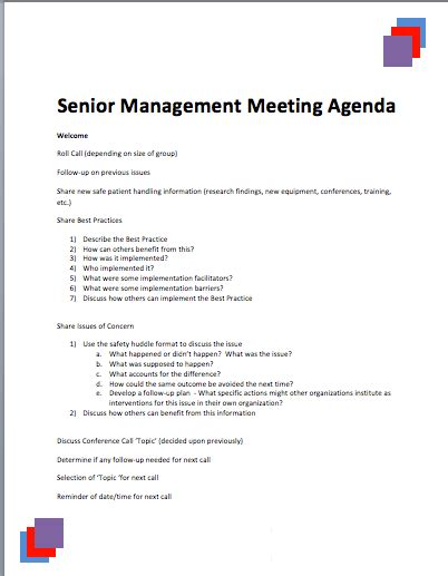 health and safety committee meeting agenda template write happy ending