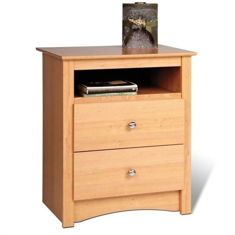 tall night table calla free shipping prepac sonoma maple tall 2 drawer night stand mdc 2428