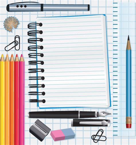 student stationery   eps   vector