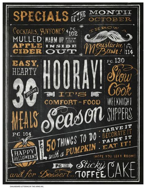 menu design lettering 22 awesome chalkboard typography arts web graphic