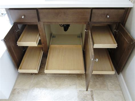 bathroom cabinet pull out shelves by slideoutshelvesllc