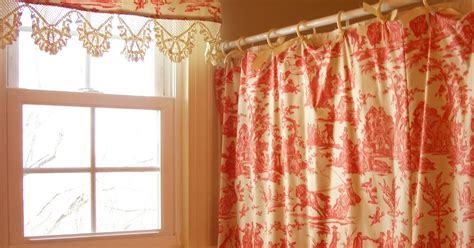 red toile shower curtain retrospect red toile shower curtain and matching valance