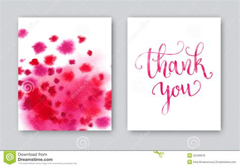 thank you card illustrator template thank you watercolor card template bright stock