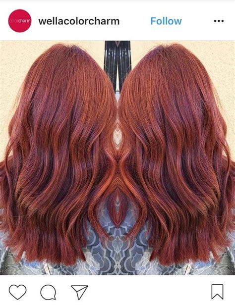 4r hair color wella color in 6rr pomegranate and 6r auburn hair