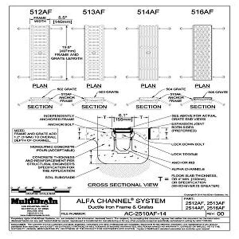 trench drain section cad details from multidrain systems llc sweets