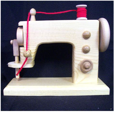 Handmade Toys For Children - wood sewing machine realistic handmade wooden replica