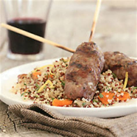lamb kebabs with couscous and mint yoghurt sauce recipes ground american lamb kebabs with dried fruit mint quinoa