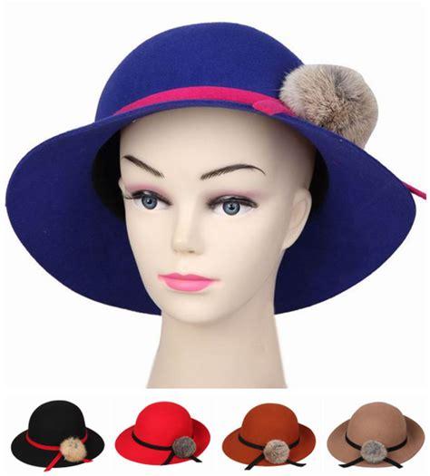 Topi Fedora Wanita 2015 gaya korea wanita fedora topi topi bowtie dengan bola